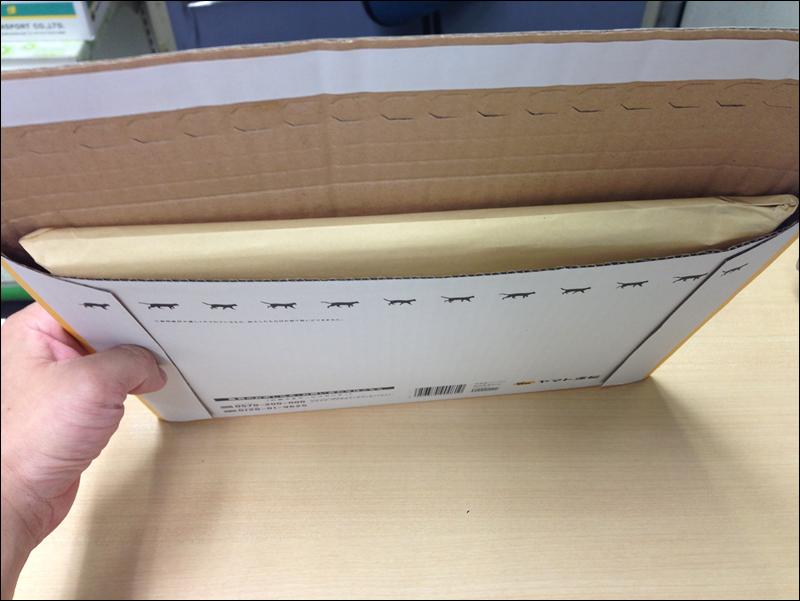 発送物を専用の箱に詰め込んだの図
