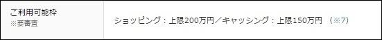 限度額は200万円まで