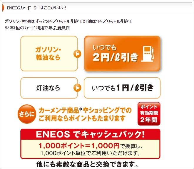 ENEOSカードSはライトユーザ向け