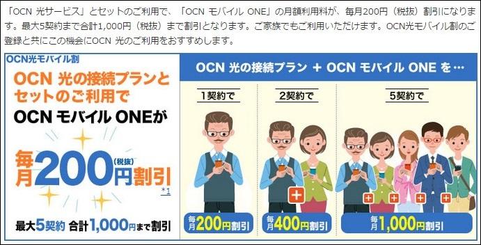 OCN光接続利用の方は200円割引