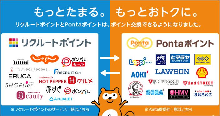 リクルートポイントとPontaポイントの賢い使い道は?