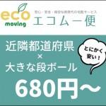 エコムー便とは?近隣府県に160サイズ980円発送は引越にも便利!