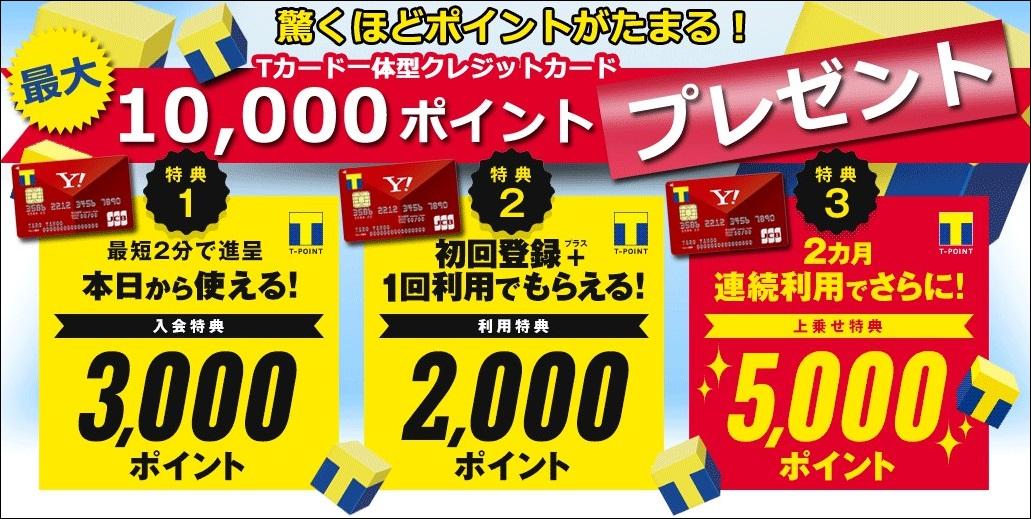2015年10月のYahoo!JAPANカードの入会キャンペーン
