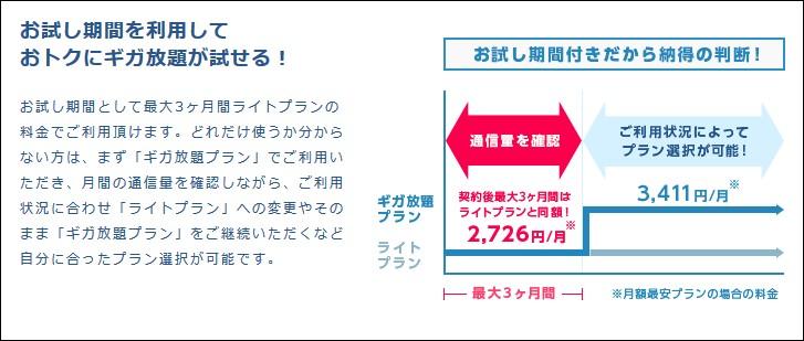 Broad Wimaxの特徴_3か月は2726円!その後も3441円で業界最安値級!